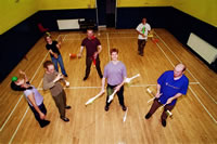 Some of the Stirling Juggling Project - photo taken in September 2002