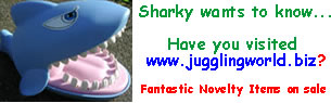 My juggling equipment and novelty items store! Come and have a look!